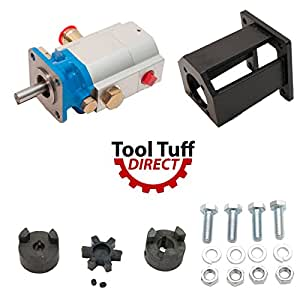 "ToolTuff Log Splitter Build Kit: 16 GPM Pump, Coupler, Mount, Bolts, Huskee, Speeco, etc (For 3/4"" Engine Crankshaft)"
