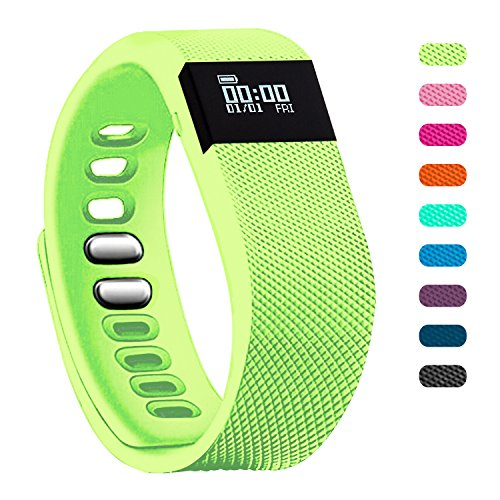 Fitness Tracker - Teslasz Bluetooth 4.0 Sleep Monitor Calorie Counter Pedometer Sport Activity Tracker for Android and IOS Smart Phone - Green