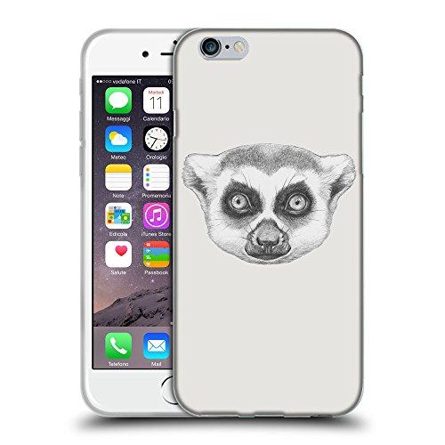 """GoGoMobile Coque de Protection TPU Silicone Case pour // Q05390631 Portrait lémurien Platine // Apple iPhone 6 PLUS 5.5"""""""