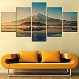 Wall Decor Mount Fuji san at Lake Kawaguchiko in Japan Canvas Prints Wall