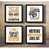 SAF Motivational Quotes Digital Reprint Painting , 19 x 19-Inch -Set of 4