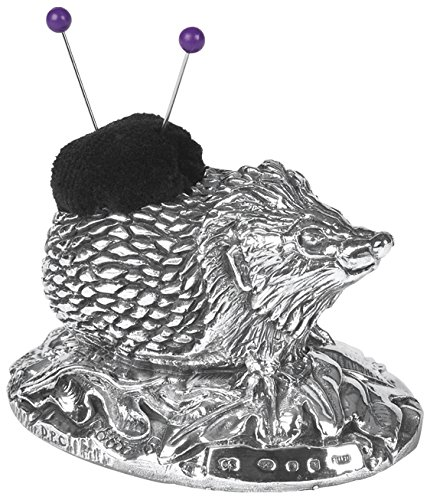 Solid Sterling Silver Hedgehog Pin Cushion. Made in England. Hallmarked Silver Basket