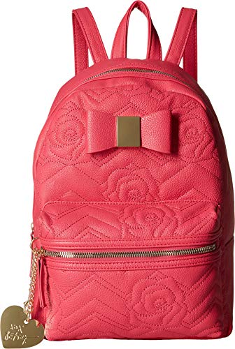 - Betsey Johnson Women's Backpack with Dangle Coral One Size