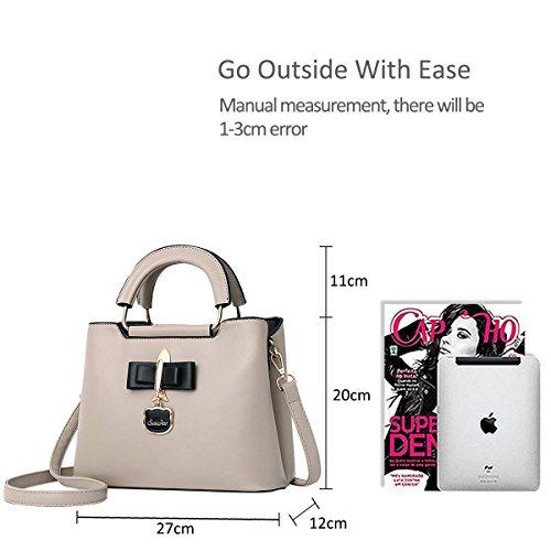 Tote Bag Hardware Crossbody Pendant Black 2018 Girls Khaki Fashoin Shoulder Women New Casual Bag for NICOLE PU Handbag amp;DORIS Bag fq7gzz