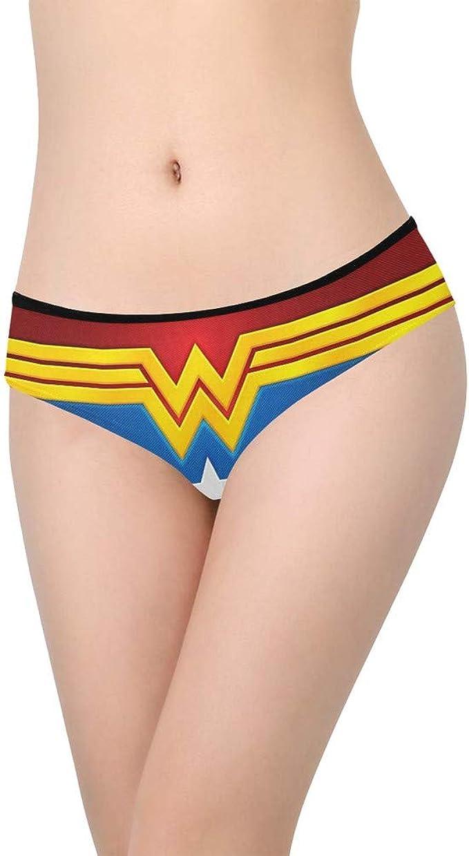 Women Red Stripe Background Underwear Bikini Briefs