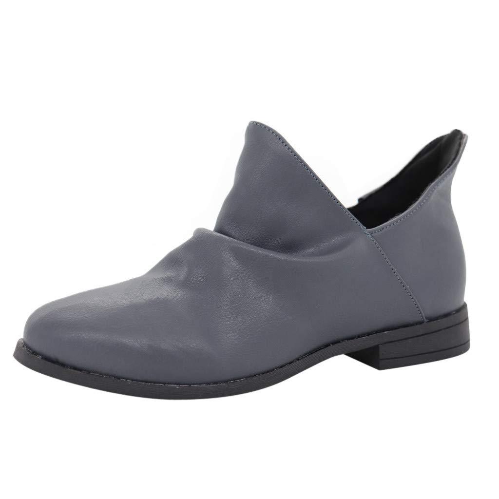Rovnkd damen Modischer Stiefel Leder Charme Damen Vintage hsQrdtC
