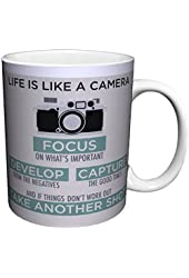 Life is a Camera Inspirational Motivational Photography Quote Ceramic Gift Coffee (Tea, Cocoa) 11 Oz. Mug