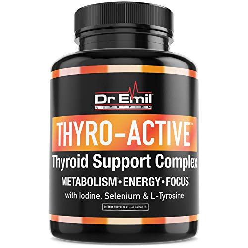 Dr Emil's Thyroid Support Supplement with Iodine – Metabolism, Energy & Mental Clarity – Doctor Formulated Complex for Underactive Thyroid (60 Capsules)