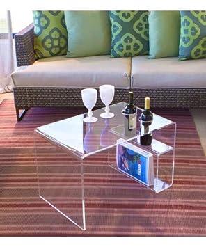 Plexcollection Table De Salon Modele A Pont En Plexiglas