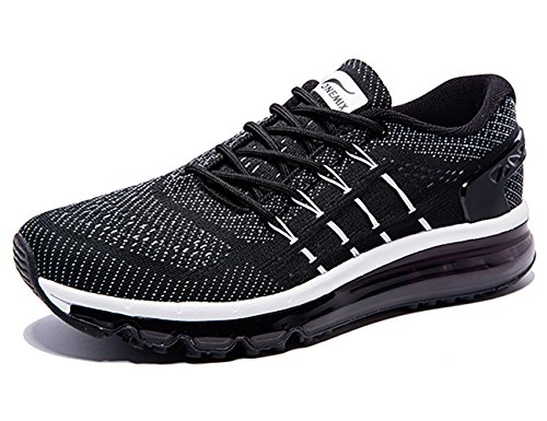 Tongue Air Womens White ONEMIX Sloping Shoes Running Sneakers Design Black vqXxx15dw