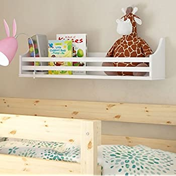 wooden bunk bed shelf bookcase and bedside storage for kids room white