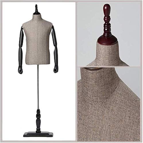 DELUXE Male Torso Mannequin Dressmaking Tailors Bust Dressmakers Model Man