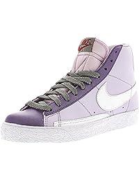 Nike Women's Blazer High Doll/White-Grey Violet-Metallic Pewter High-Top Basketball Shoe - 11.5M