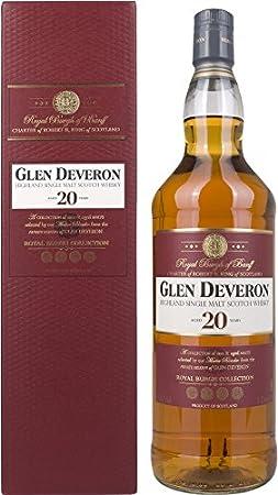 Glen Deveron 20 Years Old Single Malt Scotch Whisky in Gift Box - 1000 ml