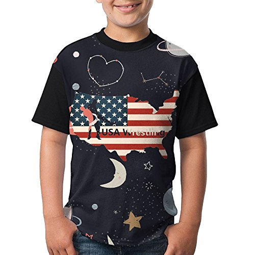 QAZ SHIRT USA Wrestling Youth Popular Short Sleeve T-Shirts by QAZ SHIRT