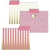 Gold Heart File Folder Set