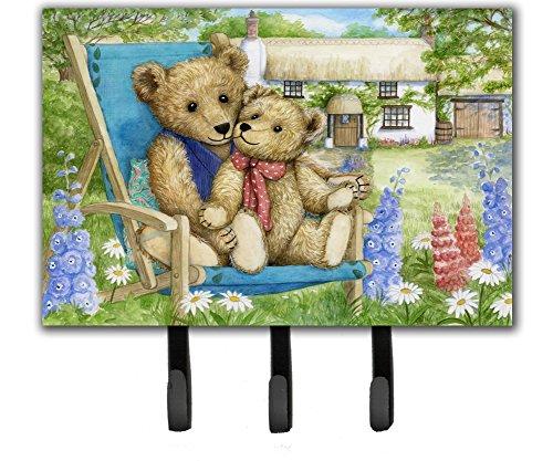(Caroline's Treasures Springtime Teddy Bears in Flowers Leash or Key Holder CDCO0306TH68, Triple)