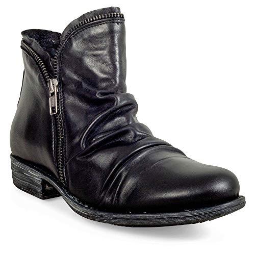 Miz Mooz Women's Luna Ankle Boot, Black, 9 M US