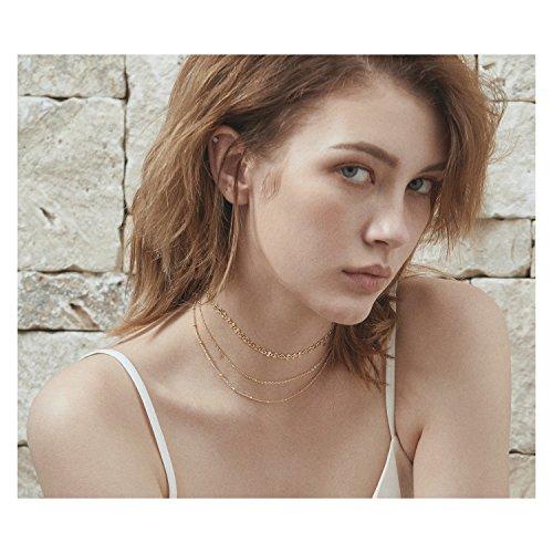 OSIANA Dainty Choker Necklace Handmade 14K Gold Plated Collar Chain Boho Style Jewelry Gift for Women