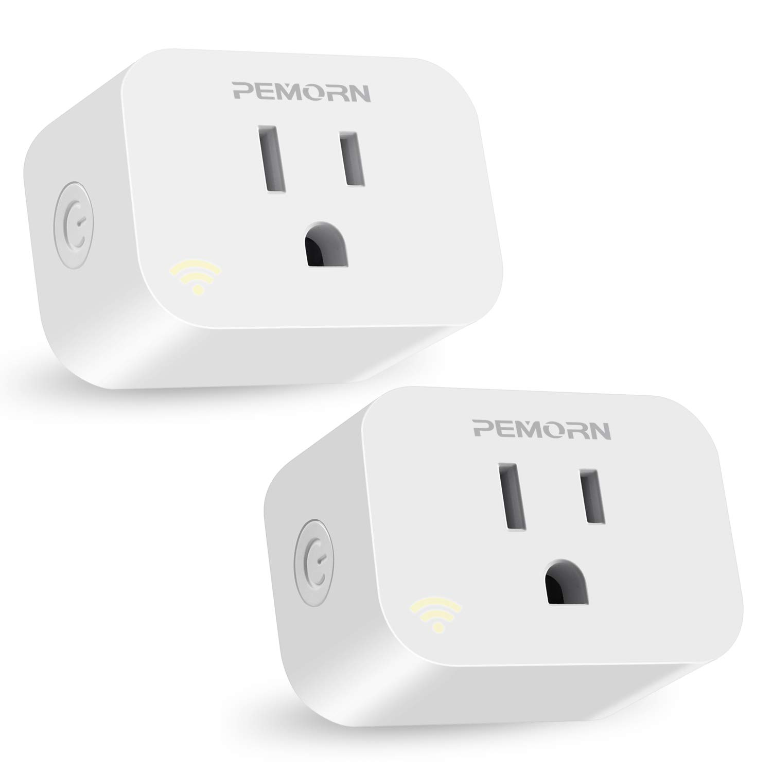PEMORN WiFi Smart Plug with Energy Monitoring, No Hub Required,Google Assistant and IFTTT (2 Pack)