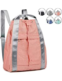 Drawstring Backpack String Bag Sackpack Cinch Water Resistant Nylon for Gym  Shopping Sport Yoga by WANDF 08ea9ab38c
