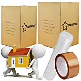 Star Supplies 10 Large Cardboard Moving Boxes – Printed Room List Packing Box for Removal, Shipping, Mailing, Moving House Carton Boxes, 60 x 43 x 43cm