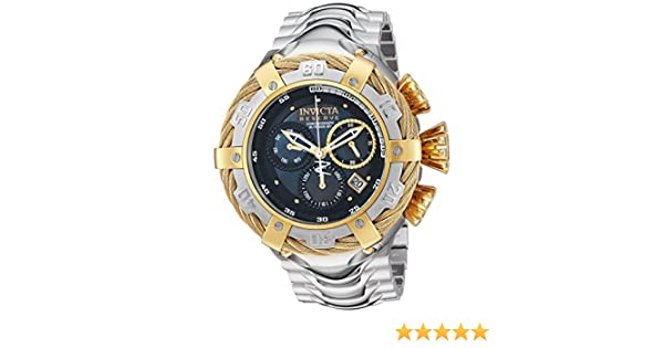 Amazon.com: Invicta Mens Bolt Quartz Stainless Steel Casual Watch, Color:Silver-Toned (Model: 22967): Watches