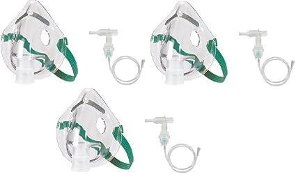 medx aerosol con Kit de tubo 2 juegos máscara de oxígeno máscara + 7 pies Tubo