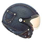 Nexx SX.60 Denim Cult SX60 Vintage Jean Material Half Mot...