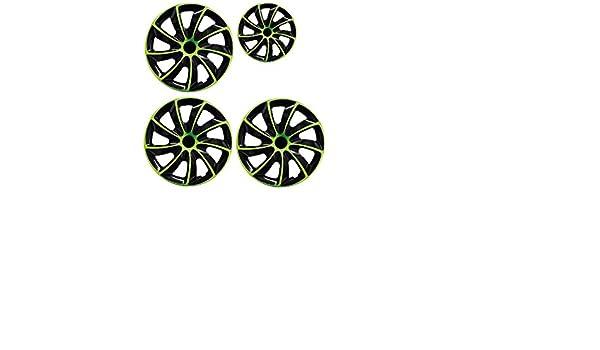 PARA Honda 15 pulgadas tapacubos/Tapacubos QUAD verde 15 negro black verde: Amazon.es: Coche y moto