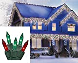 707 light bulb - Brite Star Green Mini Icicle Christmas Lights with White Wire, Set of 100, Red