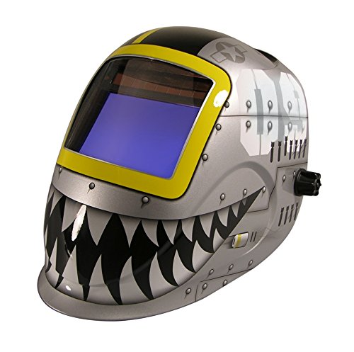 ArcOne Python Welding Helmet Professional Grade with Digital 7500VX Auto Darkening Filter (Fighting - Python Welding Helmet