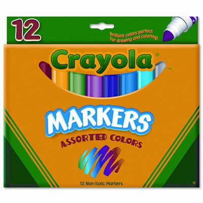 Non-Washable Broad Point Markers(12/Set) [Set of 2]