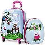 Luggage Set, Lightweight, Suitcase, Hard Shell Backpack, School Bag, Travel Gift Little Kids, Boy, Girl - iPlay, iLearn