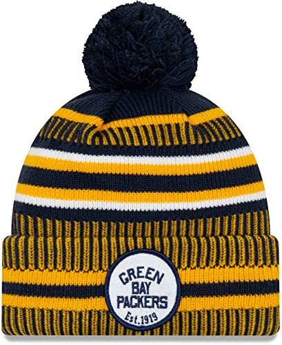 New Era Green Bay Packers Youth Sideline Classic Logo Cold Weather Sport Knit Beanie