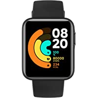 Xiaomi Mi Smart Watch Lite Black- 1.4 Inch Touch Screen, 5ATM Water Resistant, 9 Days Battery Life, GPS, 11 Sports Mode…