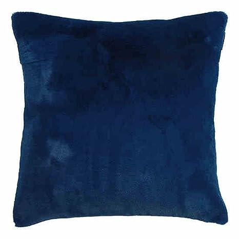 Amazon.com: Terciopelo azul oficina NAP almohada cintura ...