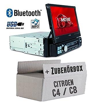 CD JVC KD-DB98BT JUST SOUND best choice for caraudio Bluetooth MP3 DAB+ Einbauset f/ür Citroen C4 C8 Android USB iPhone Autoradio