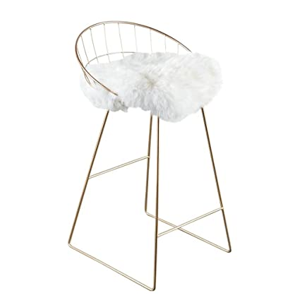 Simple Creative Bar Stool, Metal Line Makeup Chair, Personalized Design  Casual Coffee Chair (