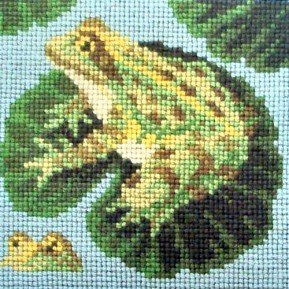 The Frogs Needlepoint Kit by Elizabeth Bradley - Frog Needlepoint