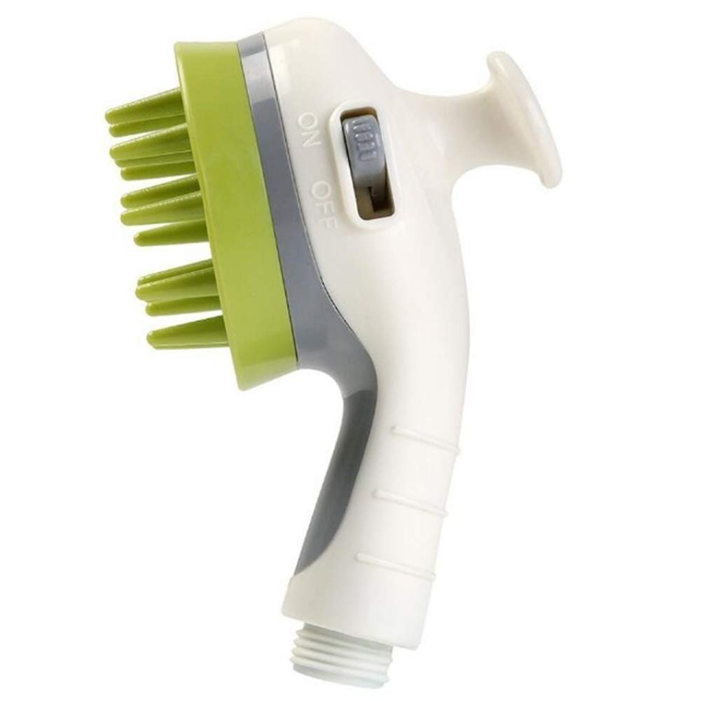 Dog Brush Pet Supplies Special Bath Brush Pet Bathing Dog and Cat Massage Shower Nozzle Pet Bath Shower Connection Brush,Green