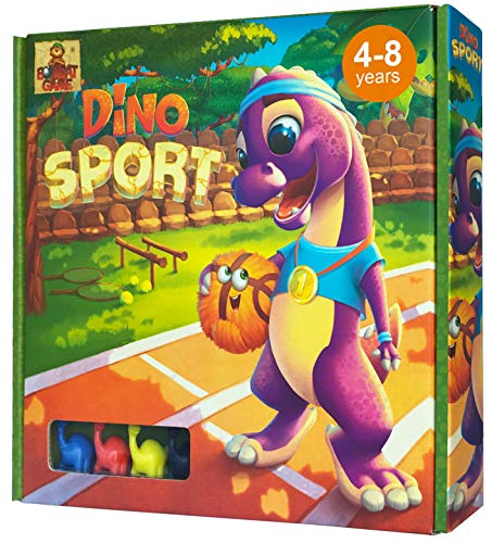 - Dino Sport - Race Board Game for Kids 4 and up with Funny Dinosaurs - Action and Adventure Best Childrens Board Games for Families