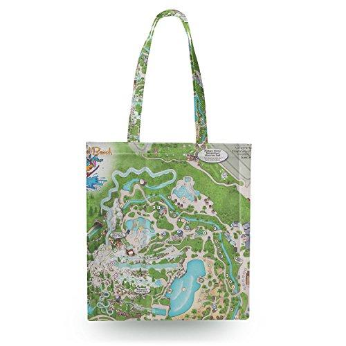 Blizzard Beach Map Canvas Tote Bag - Open Canvas Tote - Beach Blizzard Open
