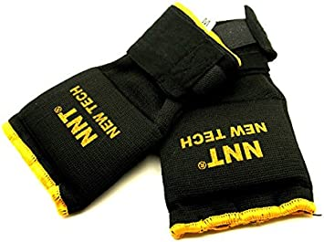 NNT BLACK /& GOLD BORDER PADDED INNER HAND WRAPS BOXING TRAINING GLOVES