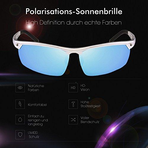 Glazata de Lunettes Homme Bleu soleil rr86Xw