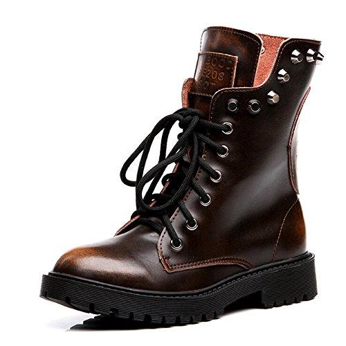 Martin Anti Leder Outdoor Stiefel DULE Skid Damenmode Farbverlauf Schuhe Echtes Flache OW8Xq1