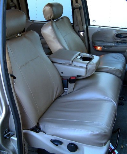 Tremendous Durafit Seat Covers Made To Fit 2001 2003 Ford F150 Super Crew Front 40 60 Rear 60 40 Split Bench In Dark Tan Leatherette Caraccident5 Cool Chair Designs And Ideas Caraccident5Info