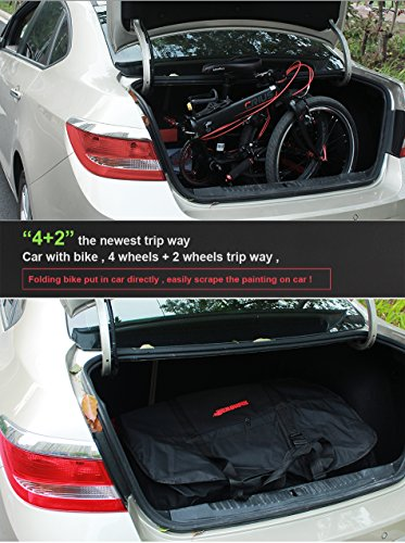 AMOMO Folding Bike Bag 14 inch to 20 inch Bicycle Travel Carrier Case Box Carry Bag Pouch Bike Transport Case by AMOMO (Image #6)