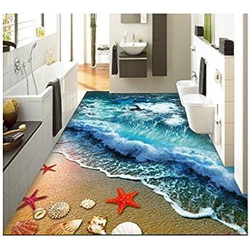 Amazon Com Zah Thin 3d Area Rug Non Slip Doormat Carpet