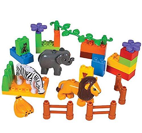 Oasis Supply Zoo Animal Cake Decorating Kit (Block Set B) - 26 piece set